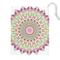 Kaleidoscope Star Love Flower Color Rainbow Drawstring Pouches (xxl)
