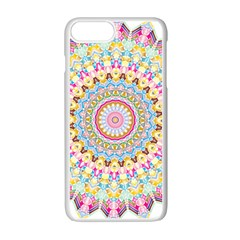 Kaleidoscope Star Love Flower Color Rainbow Apple Iphone 7 Plus White Seamless Case by Alisyart