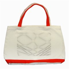Line Stone Grey Circle Classic Tote Bag (red) by Alisyart