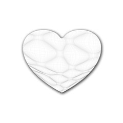 Line Stone Grey Circle Heart Coaster (4 Pack)  by Alisyart