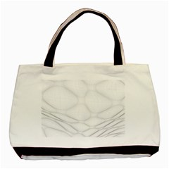 Line Stone Grey Circle Basic Tote Bag (two Sides) by Alisyart