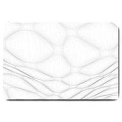 Line Stone Grey Circle Large Doormat  by Alisyart