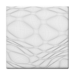 Line Stone Grey Circle Face Towel by Alisyart