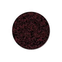 Random Pink Black Red Magnet 3  (round) by Alisyart