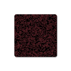 Random Pink Black Red Square Magnet by Alisyart