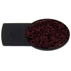 Random Pink Black Red Usb Flash Drive Oval (4 Gb) by Alisyart