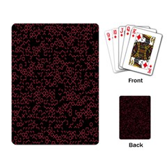 Random Pink Black Red Playing Card by Alisyart