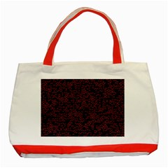 Random Pink Black Red Classic Tote Bag (red) by Alisyart