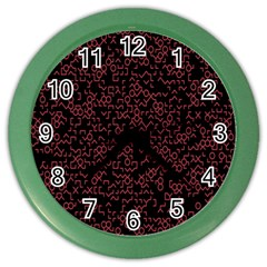 Random Pink Black Red Color Wall Clocks