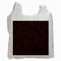 Random Pink Black Red Recycle Bag (two Side)  by Alisyart