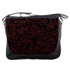 Random Pink Black Red Messenger Bags by Alisyart