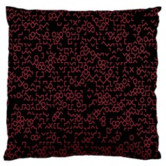 Random Pink Black Red Large Cushion Case (one Side) by Alisyart