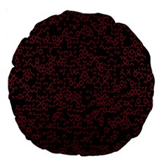 Random Pink Black Red Large 18  Premium Round Cushions by Alisyart
