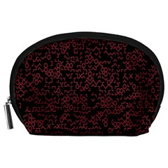 Random Pink Black Red Accessory Pouches (large)  by Alisyart