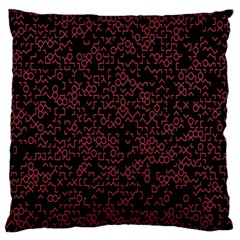 Random Pink Black Red Standard Flano Cushion Case (one Side) by Alisyart