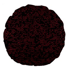 Random Pink Black Red Large 18  Premium Flano Round Cushions by Alisyart