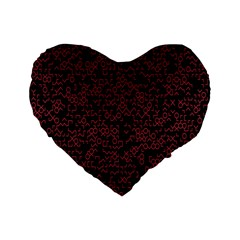 Random Pink Black Red Standard 16  Premium Flano Heart Shape Cushions by Alisyart