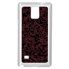 Random Pink Black Red Samsung Galaxy Note 4 Case (white) by Alisyart