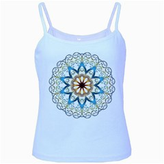 Prismatic Flower Floral Star Gold Green Purple Orange Baby Blue Spaghetti Tank by Alisyart