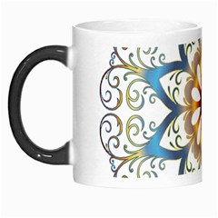 Prismatic Flower Floral Star Gold Green Purple Orange Morph Mugs by Alisyart