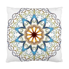 Prismatic Flower Floral Star Gold Green Purple Orange Standard Cushion Case (two Sides) by Alisyart