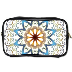 Prismatic Flower Floral Star Gold Green Purple Orange Toiletries Bags