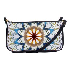 Prismatic Flower Floral Star Gold Green Purple Orange Shoulder Clutch Bags by Alisyart