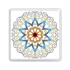 Prismatic Flower Floral Star Gold Green Purple Orange Memory Card Reader (square)  by Alisyart