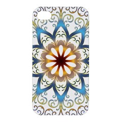 Prismatic Flower Floral Star Gold Green Purple Orange Apple Iphone 4/4s Hardshell Case by Alisyart