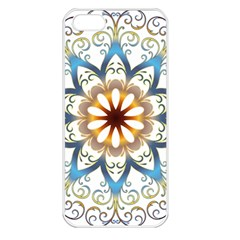 Prismatic Flower Floral Star Gold Green Purple Orange Apple Iphone 5 Seamless Case (white)