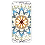 Prismatic Flower Floral Star Gold Green Purple Orange Apple iPhone 5 Seamless Case (White) Front