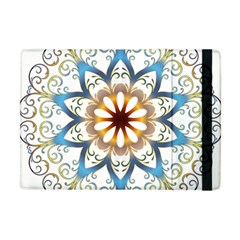 Prismatic Flower Floral Star Gold Green Purple Orange Apple Ipad Mini Flip Case