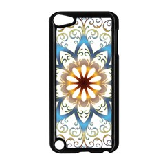 Prismatic Flower Floral Star Gold Green Purple Orange Apple Ipod Touch 5 Case (black) by Alisyart