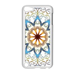Prismatic Flower Floral Star Gold Green Purple Orange Apple Ipod Touch 5 Case (white) by Alisyart