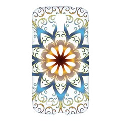 Prismatic Flower Floral Star Gold Green Purple Orange Samsung Galaxy S4 I9500/i9505 Hardshell Case by Alisyart