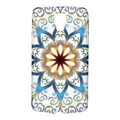 Prismatic Flower Floral Star Gold Green Purple Orange Galaxy S4 Active by Alisyart