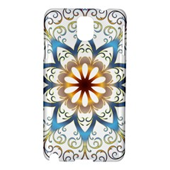 Prismatic Flower Floral Star Gold Green Purple Orange Samsung Galaxy Note 3 N9005 Hardshell Case by Alisyart