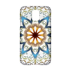 Prismatic Flower Floral Star Gold Green Purple Orange Samsung Galaxy S5 Hardshell Case  by Alisyart