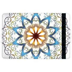Prismatic Flower Floral Star Gold Green Purple Orange Ipad Air Flip by Alisyart