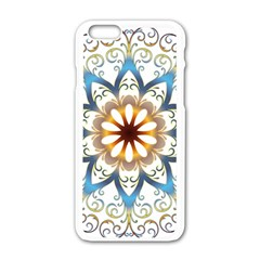 Prismatic Flower Floral Star Gold Green Purple Orange Apple Iphone 6/6s White Enamel Case by Alisyart