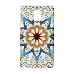 Prismatic Flower Floral Star Gold Green Purple Orange Samsung Galaxy Note 4 Hardshell Case by Alisyart