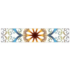 Prismatic Flower Floral Star Gold Green Purple Orange Flano Scarf (small) by Alisyart