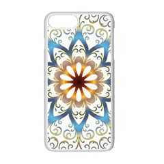 Prismatic Flower Floral Star Gold Green Purple Orange Apple Iphone 7 Plus White Seamless Case by Alisyart