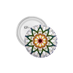 Prismatic Flower Floral Star Gold Green Purple 1 75  Buttons by Alisyart