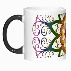 Prismatic Flower Floral Star Gold Green Purple Morph Mugs