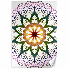 Prismatic Flower Floral Star Gold Green Purple Canvas 20  X 30   by Alisyart