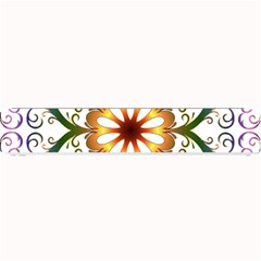 Prismatic Flower Floral Star Gold Green Purple Small Bar Mats by Alisyart