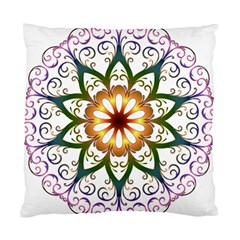 Prismatic Flower Floral Star Gold Green Purple Standard Cushion Case (two Sides) by Alisyart
