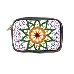 Prismatic Flower Floral Star Gold Green Purple Coin Purse