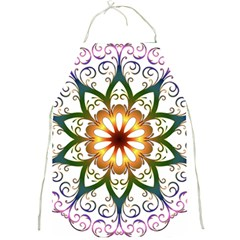 Prismatic Flower Floral Star Gold Green Purple Full Print Aprons by Alisyart